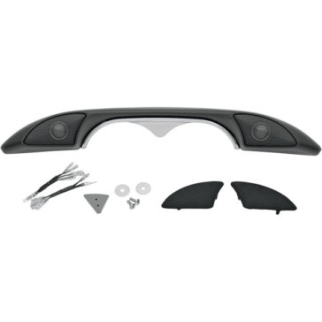 """HOG POD"" CHROME/BLACK FLHT/FLHX DASH TRIM/TWEETER POD [4405-0172]"