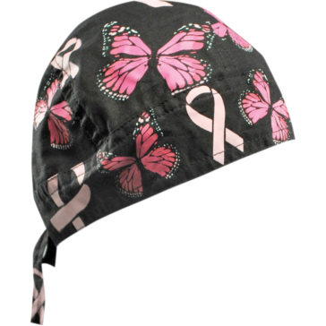 ZAN HEADGEAR Breast Cancer Ribbon and Butterflies Flydanna® Headwrap [2504-0253]