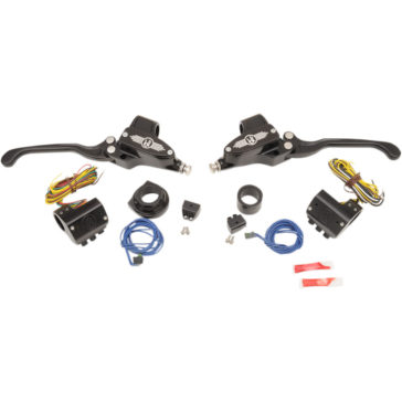 PERFORMANCE MACHINE HANDLEBAR CONTROL SET [0610-1673] BRAKE 9/16:CLUTCH 11/16 1984-2013