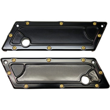 CARL BROUHARD DESIGNS BLACK BOMBER SERIES SADDLEBAG HINGE COVER [3501-1187] 1993-2013